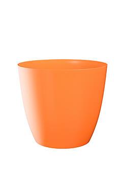 Dekorativní květináč Ella lesklá 11 cm oranžová