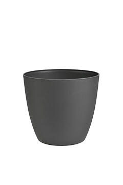 Decorative flower pot Ella  11 cm glitter anthracite