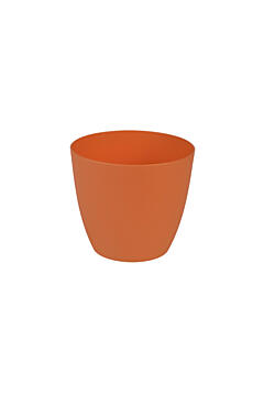 Decorative flower pot Ella  11 cm orange
