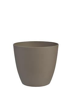 Decorative flower pot Ella  11 cm taupe