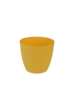 Decorative flower pot Ella  13 cm yellow