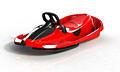 Steerable sledge Stratos racing red