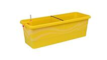Self-irrigation window box Smart System Gardenie (with décor) 40 cm yellow