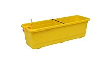 Self-irrigation window box Smart System Fantazie 40 cm yellow