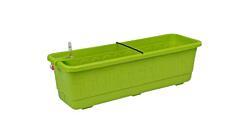 Samozavlažovací truhlík Smart Systém Fantazie 40 cm hráškově zelená