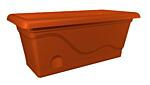 Self-irrigation window box Titanic 40 cm terracotta