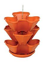 Standing and hanging tiered flower pot Trelista 3 tiers terracotta
