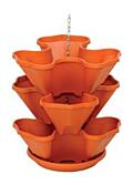 Standing and hanging tiered flower pot Trelista 4 tiers terracotta