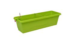 Samozavlažovací truhlík Smart Systém Extra Line 40 cm hráškově zelená