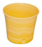 Decorative flower pot Tina  13 cm yellow